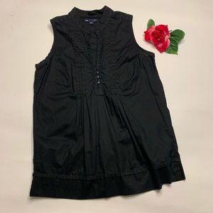 523e6ac70f816 Gap Womens Small Black Sleeveless Button Blouse